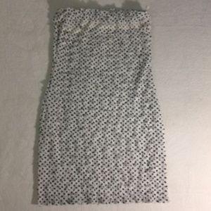 ZARA RUFFLED TIERED STRAPLESS DRESS